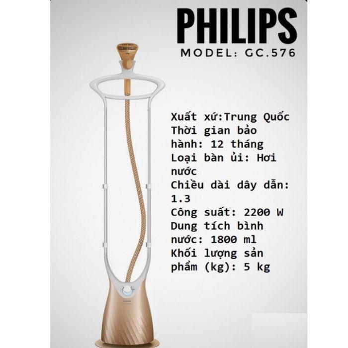 5: Bàn Ủi Hơi Nước Đứng Philips GC576
