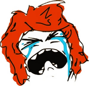 red crying