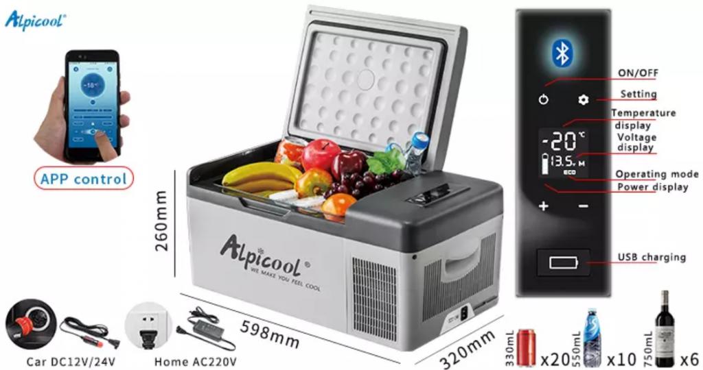 Tủ lạnh mini oto Alpicool CX50 (50Lit)