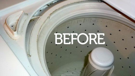 Lấy hết tất cả quần áo hoặc đồ dùng còn sót trong lồng giặt ra