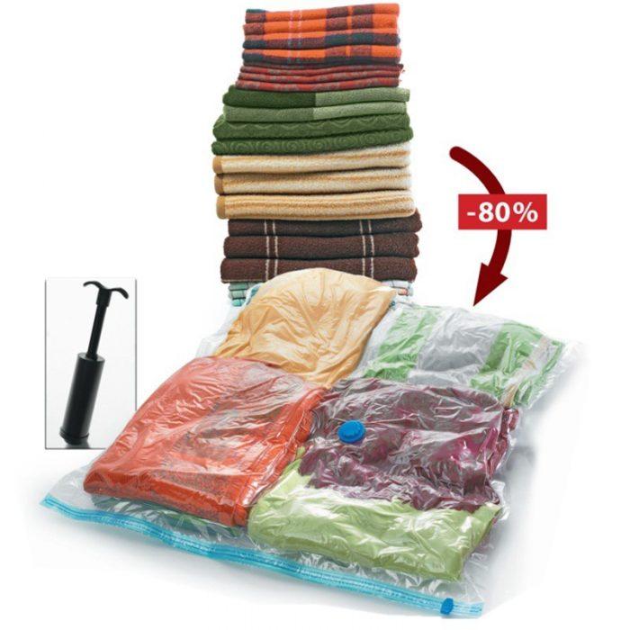 #3: Túi hút chân không trong suốt gấp gọn bằng nhựa