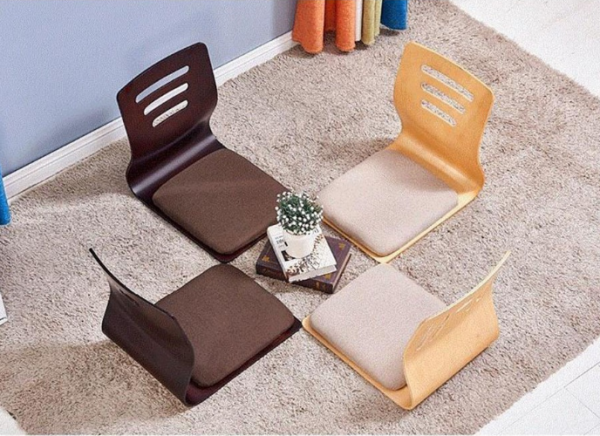 Ghế bệt tựa lưng gỗ kiểu nhật