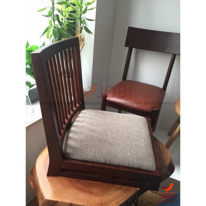 Ghế bệt tựa lưng gỗ