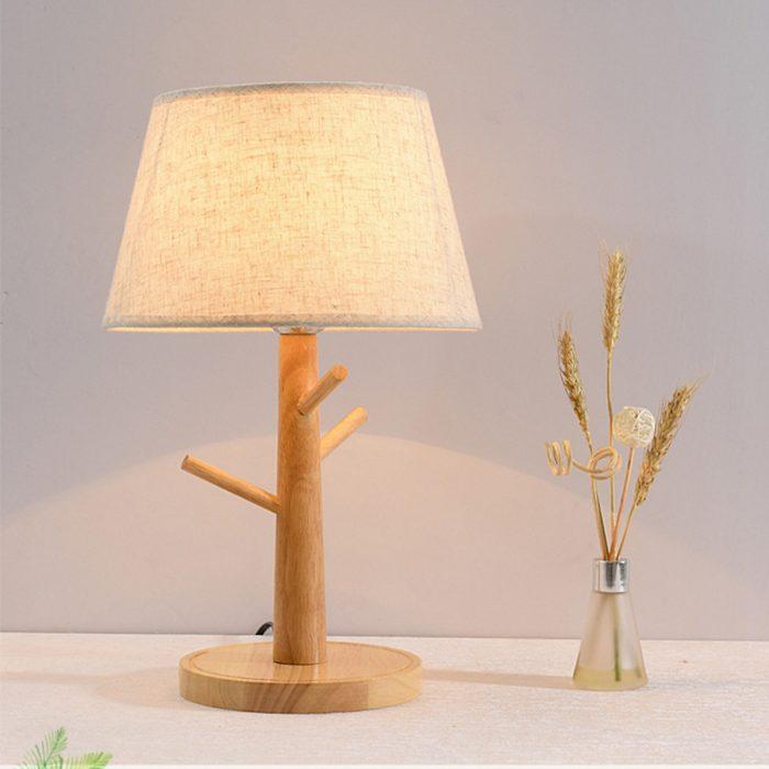 10. Đèn ngủ gỗ để đầu giường LACOCI