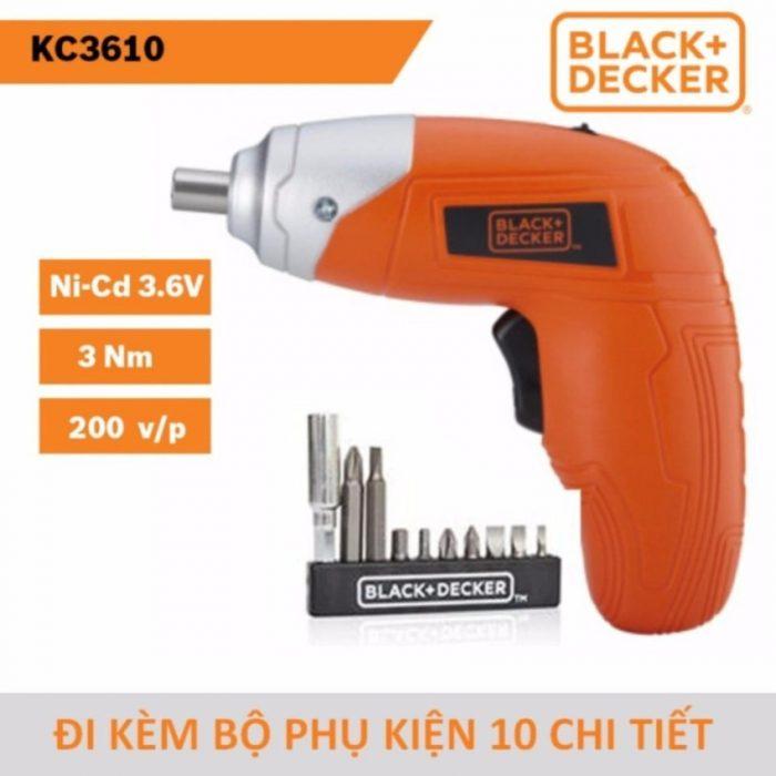 Máy vặn vít dùng pin Ni-Cd Black & Decker