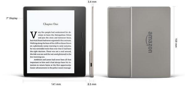 Amazon Kindle Oasis là chiếc máy đọc sách cao cấp nhất và tập trung công nghệ mới nhất của Amazon