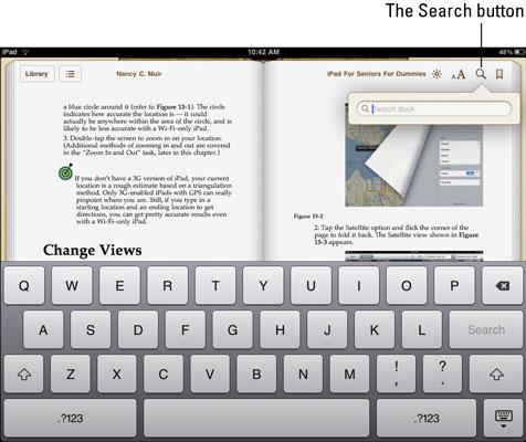 Hầu hết thiết bị đọc sách đều được trang bị chức năng tìm kiếm theo tựa sách hoặc theo nội dung