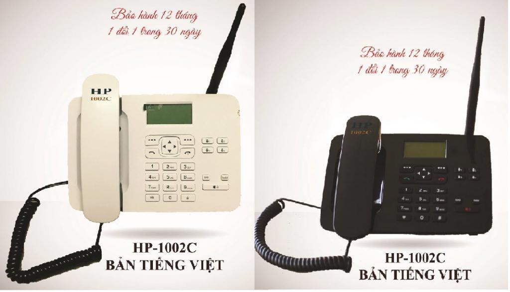 Điện thoại bàn không dây lắp sim Homephone HP 1002C