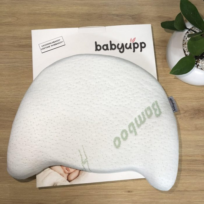 Gối cao su non cho bé chống méo đầu, bẹp đầu Babyupp