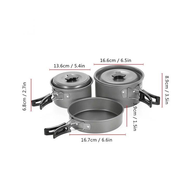 6. Bộ nồi nấu ăn dã ngoại Cooking Set (Tặng kèm bộ đánh lửa)