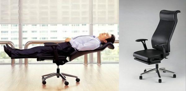 Ghế ngủ văn phòng là loại ghế xếp có cấu tạo đặc biệt giúp cho người sử dụng có thể nằm thẳng lưng khi ngủ