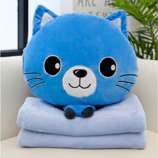 Bộ chăn gối văn phòng hình mèo