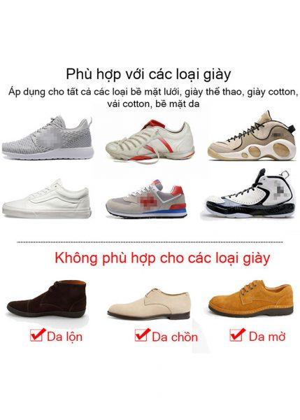Tùy vào loại giày mà có quy trình làm sạch khác nhau